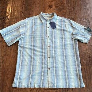 Tommy Bahamas silk original fit Short sleeve shirt